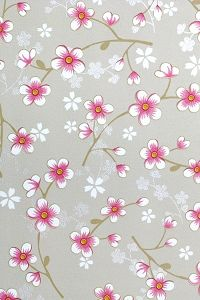 wallpaper .. PiP Cherry Blossom Khaki behang