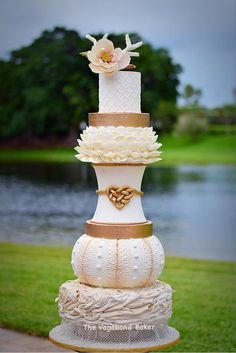 Nautical Beach Wedding cake