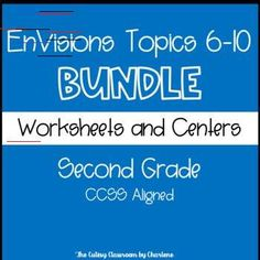 This product has extra practice worksheets and centers for every skill taught in EnVisions Topics subjects EnVisions Topics Bundle Second Grade First Grade Math, Second Grade, Grade 2, Student Data Tracking, Envision Math, Adding And Subtracting Fractions, Student Numbers, Spelling Lists, Guided Reading Groups