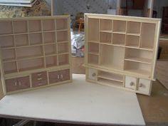 Dollhouse shelves from repurposed mini curio display case  Source: La Segunda Castita De Ana Y Marcia