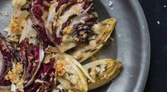 Grilled Endive Salad with Salted Garlic and Parmesan Crumble