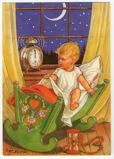 Curt Nyström Stoopendaal, Scandinavian New Year postcard.