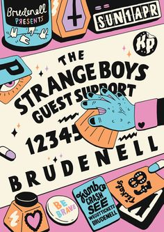 https://flic.kr/p/bmuXeZ | Untitled | New poster!! The Strange Boys at the Brudenell! Hubba hubba.