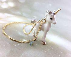 Pretty unicorn necklace Follow @ pin addict