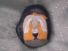 Malovaný betlém na kameni 11x8 cm