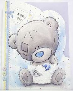 ME TO YOU A BABY BOY ! TINY TATTY TEDDY BEAR CARD NEW