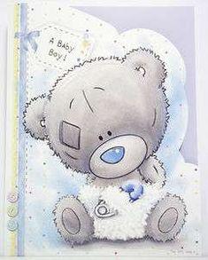 ME TO YOU A BABY BOY ! TINY TATTY TEDDY BEAR CARD NEW