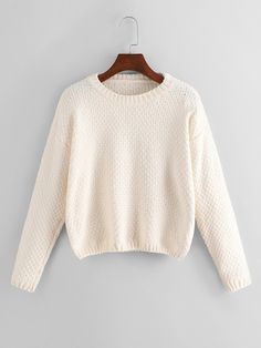 To find out about the Drop Shoulder Crop Jumper at SHEIN, part of our latest Sweaters ready to shop online today! Pull Court, Fashion News, Fashion Outfits, Beige Style, Leggings, Sweater Jacket, Jumper Dress, Winter Sweaters, Pulls