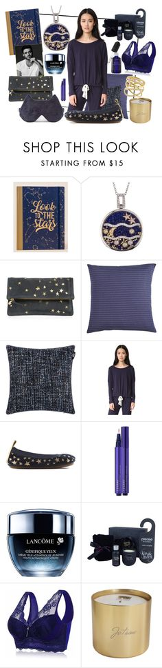 """Sleep with me"" by eversmile ❤ liked on Polyvore featuring Francesca's, Clare V., Pier 1 Imports, Karl Lagerfeld, Eberjey, Yosi Samra, By Terry, Lancôme, Kiss the Moon and Jay Import"