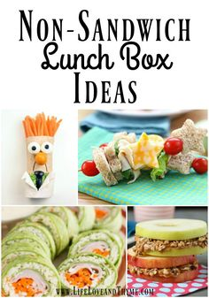 Getting stuck in a sandwich rut is the pits! Avoid it with these non-sandwich lunch box ideas and your kids will be excited about lunch again.
