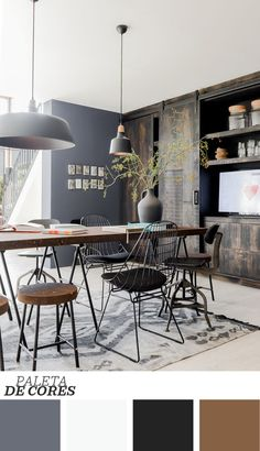 To Create An Industrial Dining Room industrial dining room simple idea dining room simple idea 5 House Design, Dining Room Design, Dining Room Decor, Industrial Dining, Interior Design, House Interior, Dining Room Industrial, Kitchen Decor Modern, Home Decor