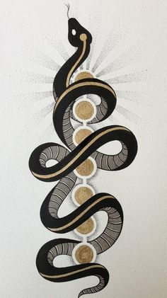 Serpent of kundalini, spiritual energy rises up (the spine) and through the chakras:
