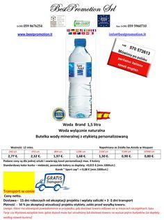 Woda Brand 1,5 litra | Woda Reklamowa