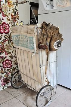 Great idea for the back of cart! Could hold water bottles tape measure