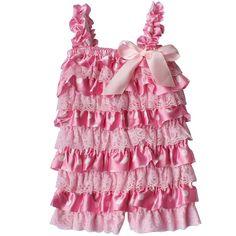 Amazon.com: TIAOBU US Baby Girls Summer Lace Spaghetti Ruffle Tiered Romper…