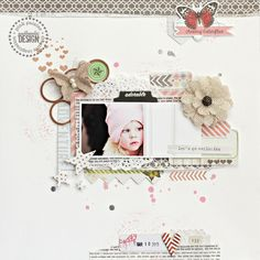 Pink Paislee layout for an e-book using Luxe, Cottage Farms and Hope Chest