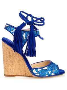 Tiajin suede floral wedges | Paul Andrew | MATCHESFASHION.COM US