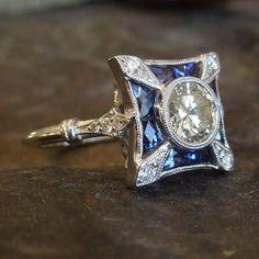 Bijoux Art Deco, Art Nouveau Jewelry, Jewelry Art, Fine Jewelry, Jewelry Design, Antique Rings, Or Antique, Antique Jewelry, Vintage Jewelry