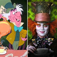 There has got to be a happy medium for the Mad Hatter between pink old guy and freaky version!