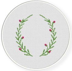 Laurel Border PDF Cross Stitch Pattern by DailyCrossStitch on Etsy