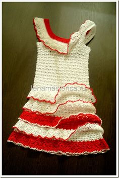 Baby crochet dress- wow, this is amazing! I wish I could read what language the pattern is in so I could make it...
