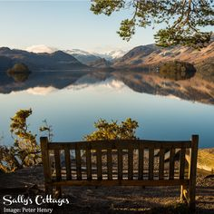 The perfect spot to enjoy a winter view. Friars Crag on the banks of Derwentwater in Keswick.