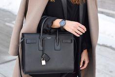Black YSL Sac De Jour Bag