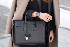 Black YSL Sac De Jour Bag
