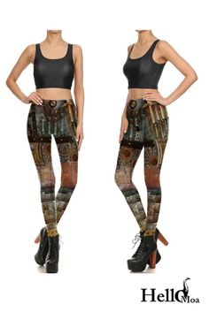 Designed with premium high quality material, Light-weight, flexible and move with you every step. Steampunk Leggings, Ankle Length, Stylish Outfits, Must Haves, Custom Design, Classic, How To Wear, Collection, Women