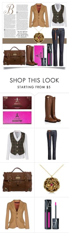 """""""Untitled #101"""" by kristy-corbin ❤ liked on Polyvore featuring Valentino, Joe Browns, Mulberry, Allurez, Dsquared2 and NARS Cosmetics"""