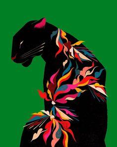 """Domestika on Instagram: """"La fuerza de los colores en la obra del artista brasileño Willian Santiago (@willian_santiago) es uno de sus pilares. A través de las…"""""""