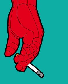 The secret life of heroes - Spidersmoke Art Print by Greg-guillemin | Society6