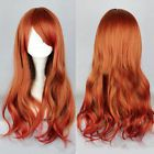 LOLITA Red Gradient Colors Wig Nature Curly Wavy Long Hair Wig Cosplay Costume