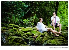 www.rightframe.net - Beautiful Destination Beach Wedding in Oahu. Bamboo, forest, photography, photographer, weddings, photos, bride , groom, hawaiian, romantic, ideas, couple, bouquets, lei, trash the dress, tdd, rainforest.