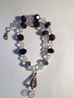 Twirl and Swirl: Handmade Glass Bead Child's Necklace Featuring Swirl Pendant by ReprievesCorner on Etsy