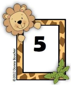 Common Core: Number Cards to 120, It's a Jungle! w/Activities