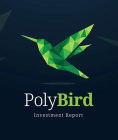 Green Low Poly Shape Bird Logo Template AI, EPS