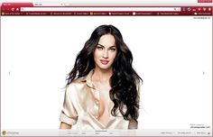 Beautiful Megan Fox Google Chrome Theme. Download Here - http://www.chromeposta.com/celebrities/beautiful-megan-fox-chrome-theme/