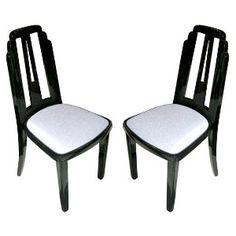 $3975 for 4 skyscraper black lacquer chairs