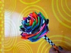 Duck tape....the best craft projects for kids.  Amazing how many things you can do with duck tape.  I have included the instruction on how to make the roses.  The kids and I had so much fun making these ~ a great inexpensive way to add those little extra's to any party.
