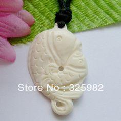 New Zealand Maori Ručne vyrezávané Ox Bone Double White FISH náhrdelník / obojok Hawaii Šperky (Čína (pevninská časť))