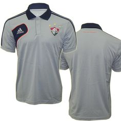 8427983ec607b Polo Fluminense Viagem 2012 - 2013 Adidas Cinza