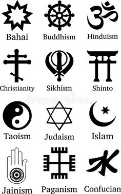 Illustration about World religion symbol icons. Almost all the religions are covered. Illustration of illustration, christianity, david - 102351034 Religions Du Monde, World Religions, Element Symbols, Taoism, Ancient Symbols, Judaism, Hinduism, Christianity, Bible