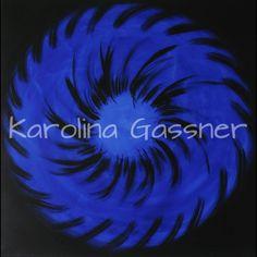 """Blue Circles"" by Karolina Gassner © acrylic on canvas, cm. Acrylic Paintings, Circles, Canvas, Blue, Tela, Canvases"