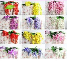 guangzhou artificial wisteria flower making supplier for wedding decoration flower vine