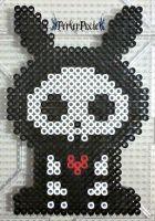 Skelanimals Jack the Rabbit perler bead by PerlerPixie
