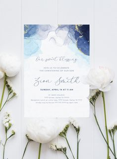 Alcohol ink invitation template for baptism or baby dedication Christening, Ava, Dallas, Reception, Sunday, Celebrities, Celebs, Domingo, Receptions