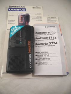 OLYMPUS PEARLCORDER S720 MICROCASSETTE TAPE RECORDER AND PLAYER 2 SPEED EUC
