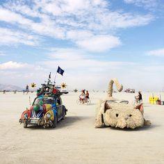 crazy cars at Burning Man