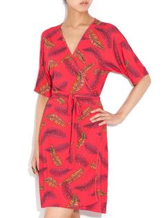 Charlotte Sparre - stretch print wrap dress